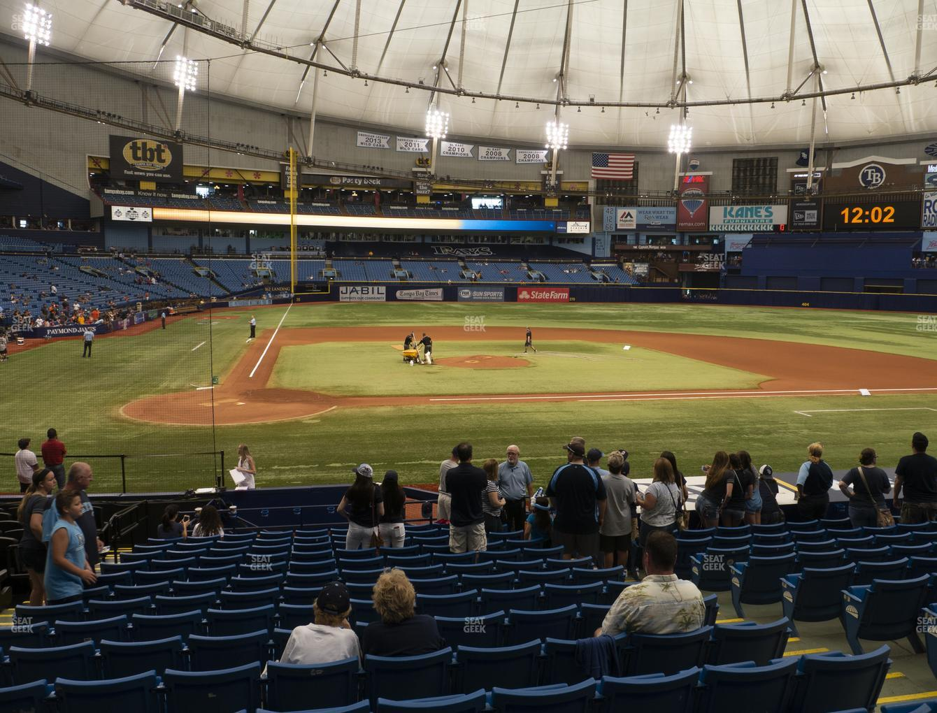 Tampa Bay Rays at Tropicana Field Section 110 View