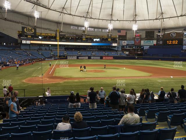 Tropicana Field Section 110 view