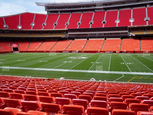 Arrowhead Stadium Section 136 view