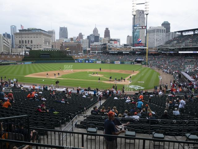 Comerica Park Section 130 view