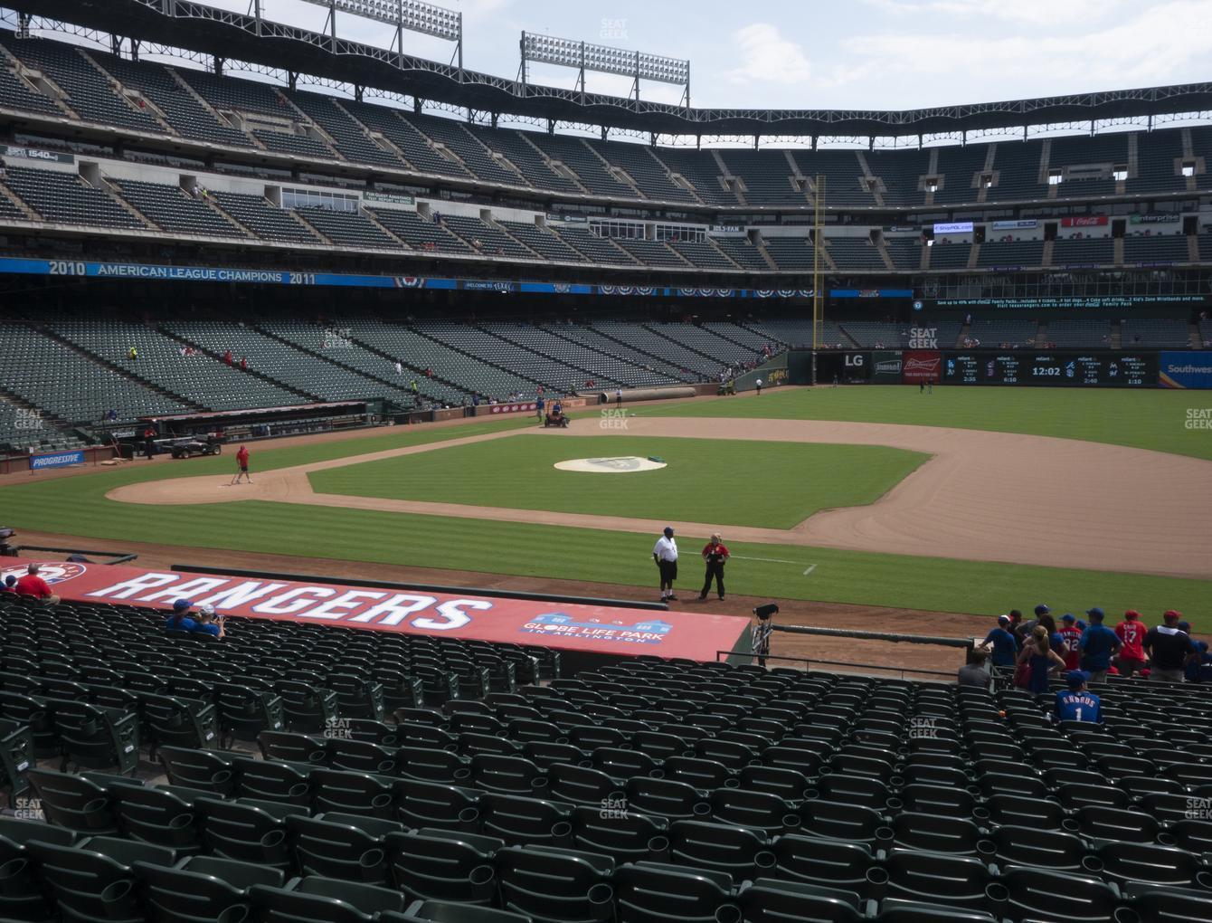 Texas Rangers at Globe Life Park Section 34 View