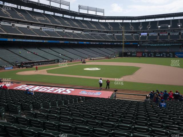 Globe Life Park Section 34 view