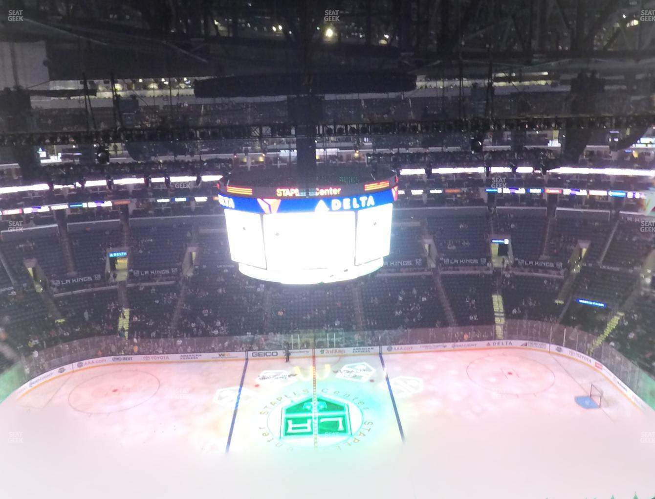 Los Angeles Kings at Staples Center Section 301 View