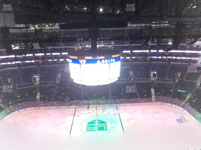 Staples Center Section 301 view