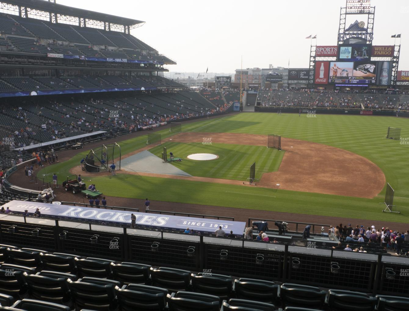 Coors Field Section 222 Seat Views Seatgeek