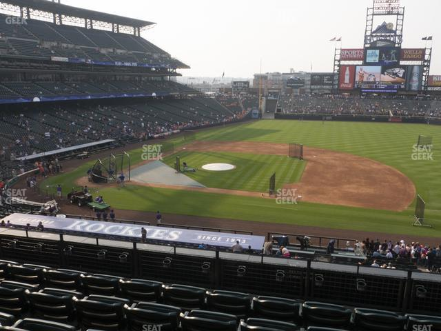 Coors Field Section 222 view