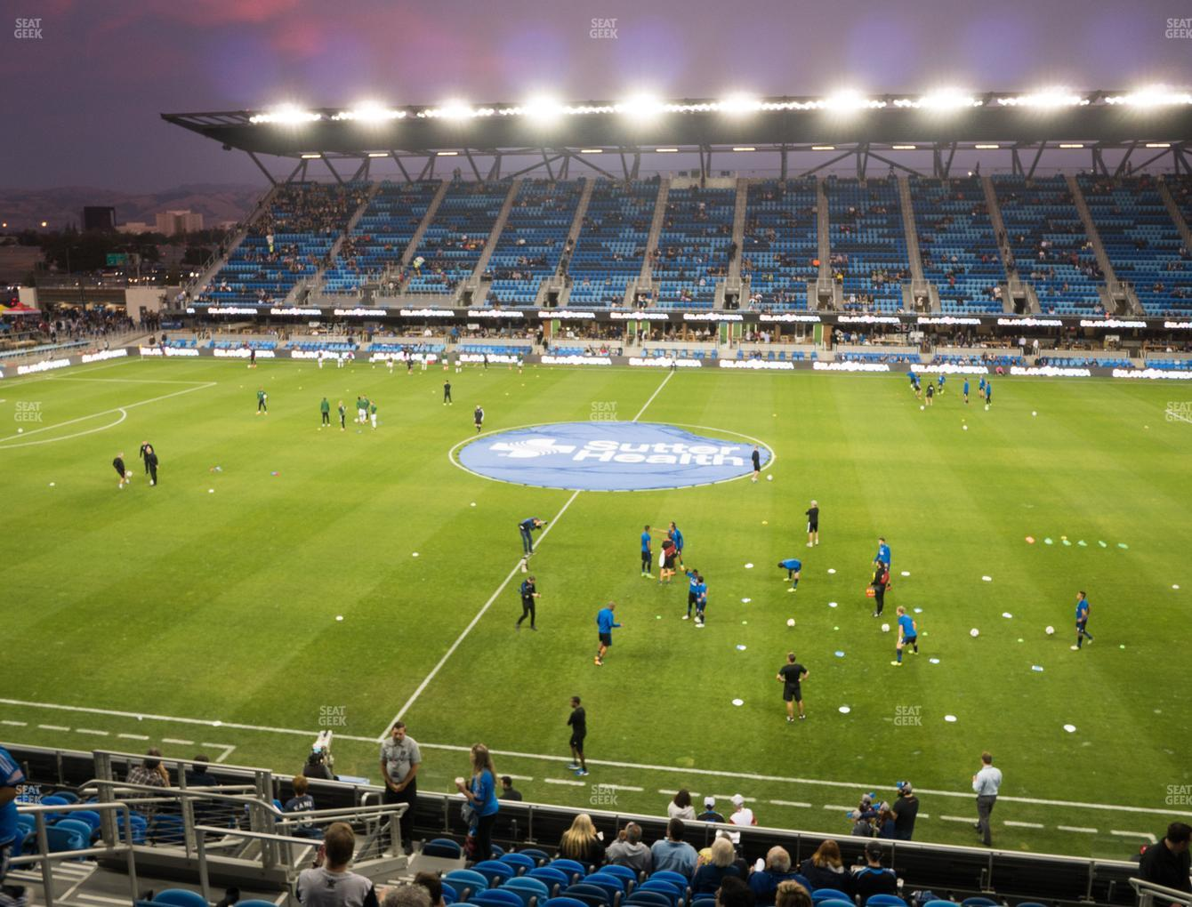 San Jose Earthquakes at Earthquakes Stadium Section 107 View