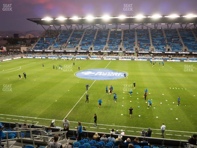 Earthquakes Stadium Section 107 view