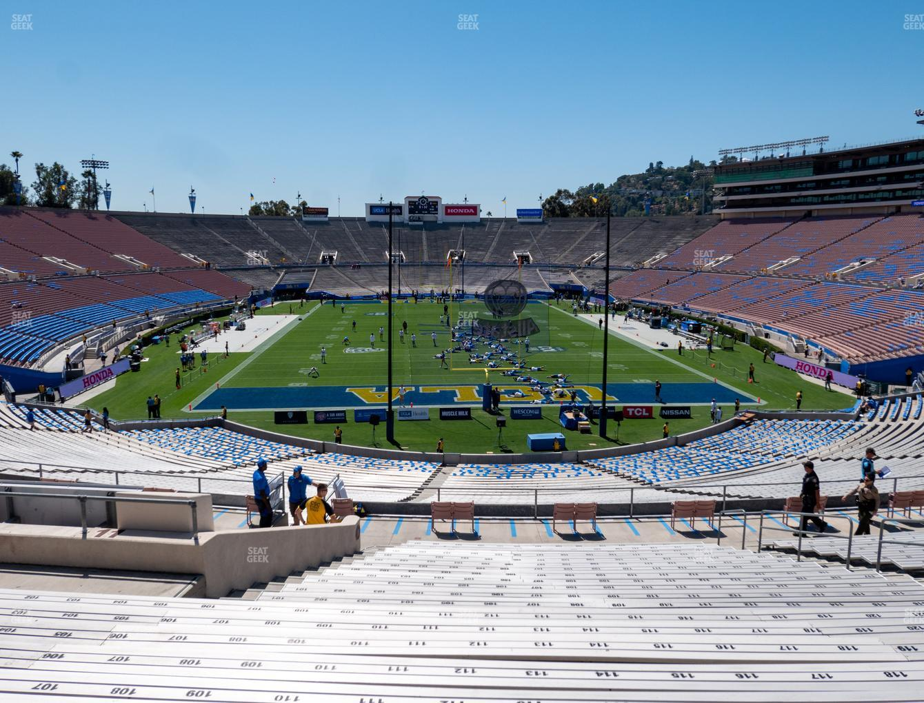 UCLA Bruins Football at The Rose Bowl Upper 11 H View