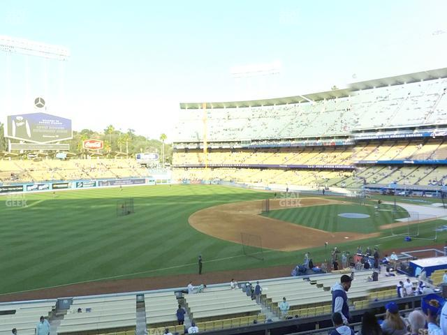Dodger Stadium Loge Box 147 view
