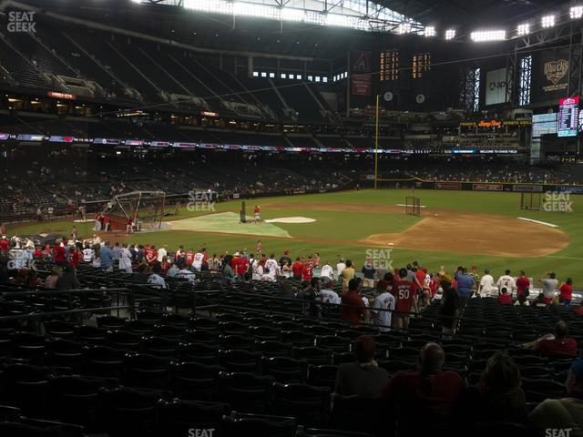 Chase Field Section 116 view