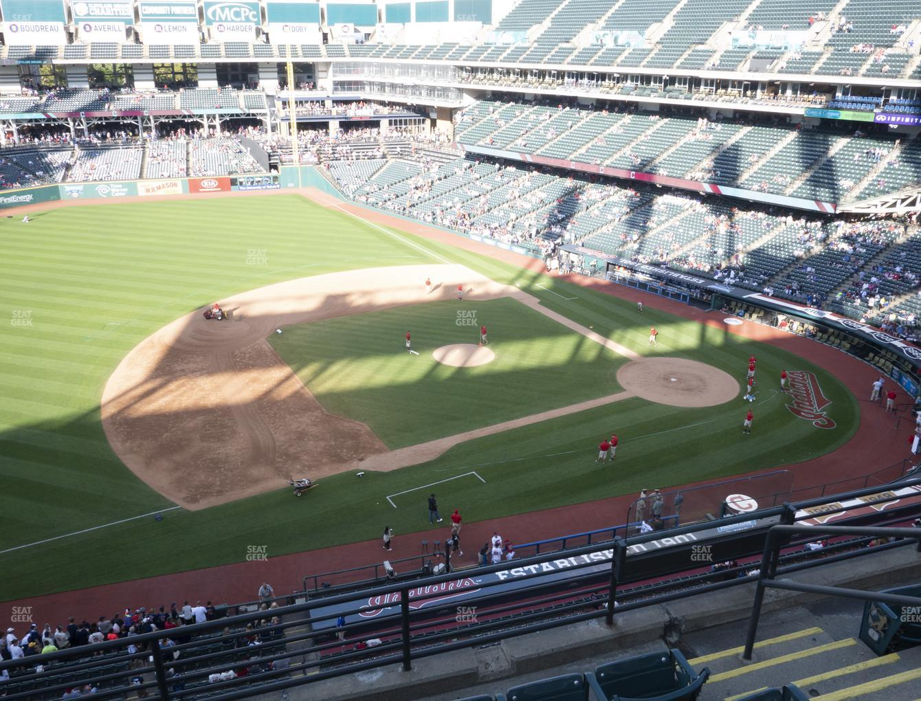 Cleveland Indians at Progressive Field Section 465 View