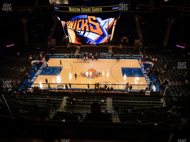Madison Square Garden Section 313 view