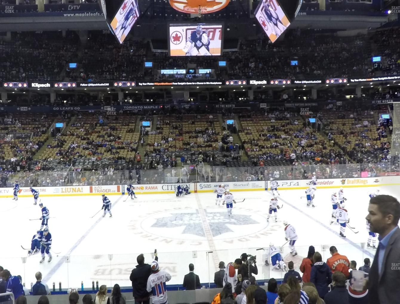 Toronto Maple Leafs at Scotiabank Arena Section 119 View
