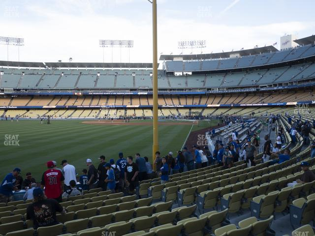 Dodger Stadium Field Box 51 view