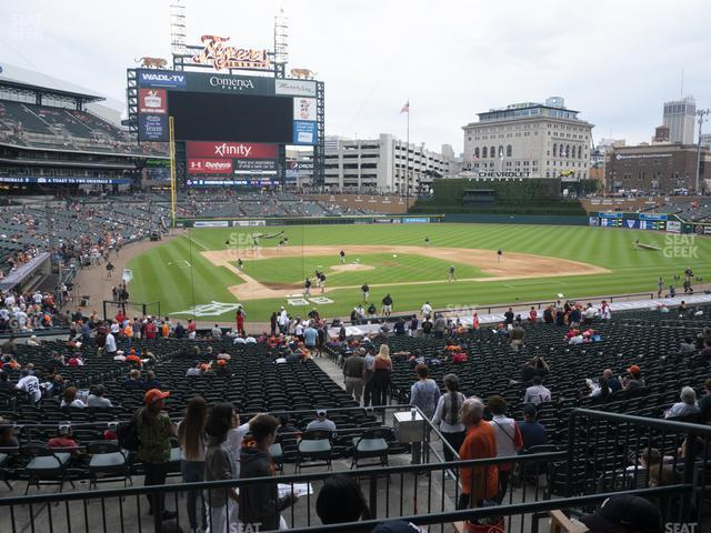 Comerica Park Section 125 view