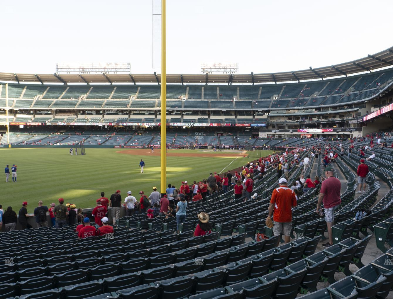 Los Angeles Angels at Angel Stadium of Anaheim Section 103 View