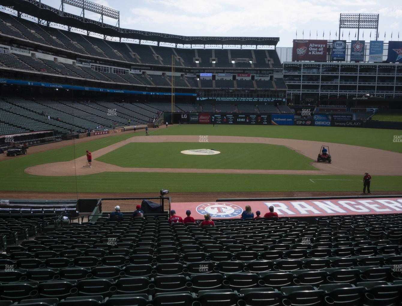 Texas Rangers at Globe Life Park Section 32 View
