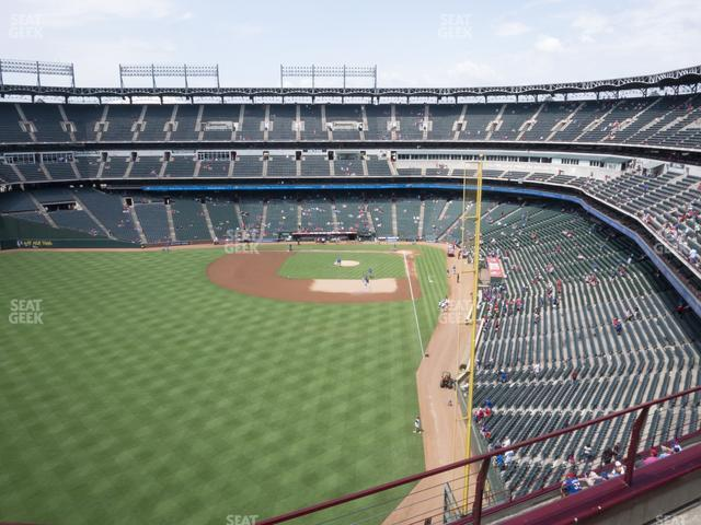 Globe Life Park Section 306 view