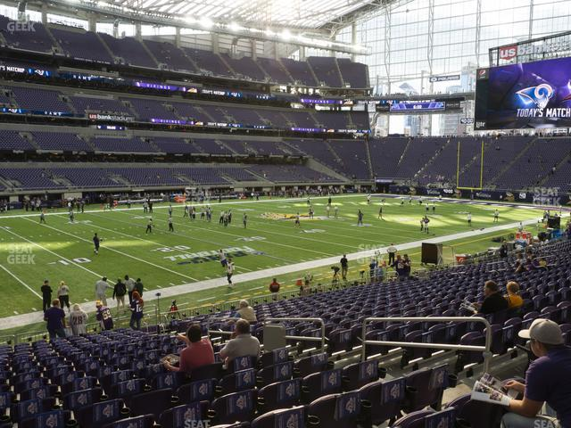 U.S. Bank Stadium Section 113 view