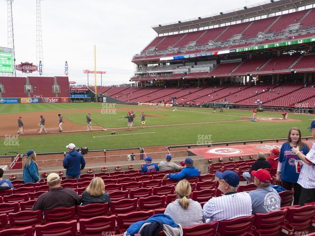 Great American Ball Park Section 116 view
