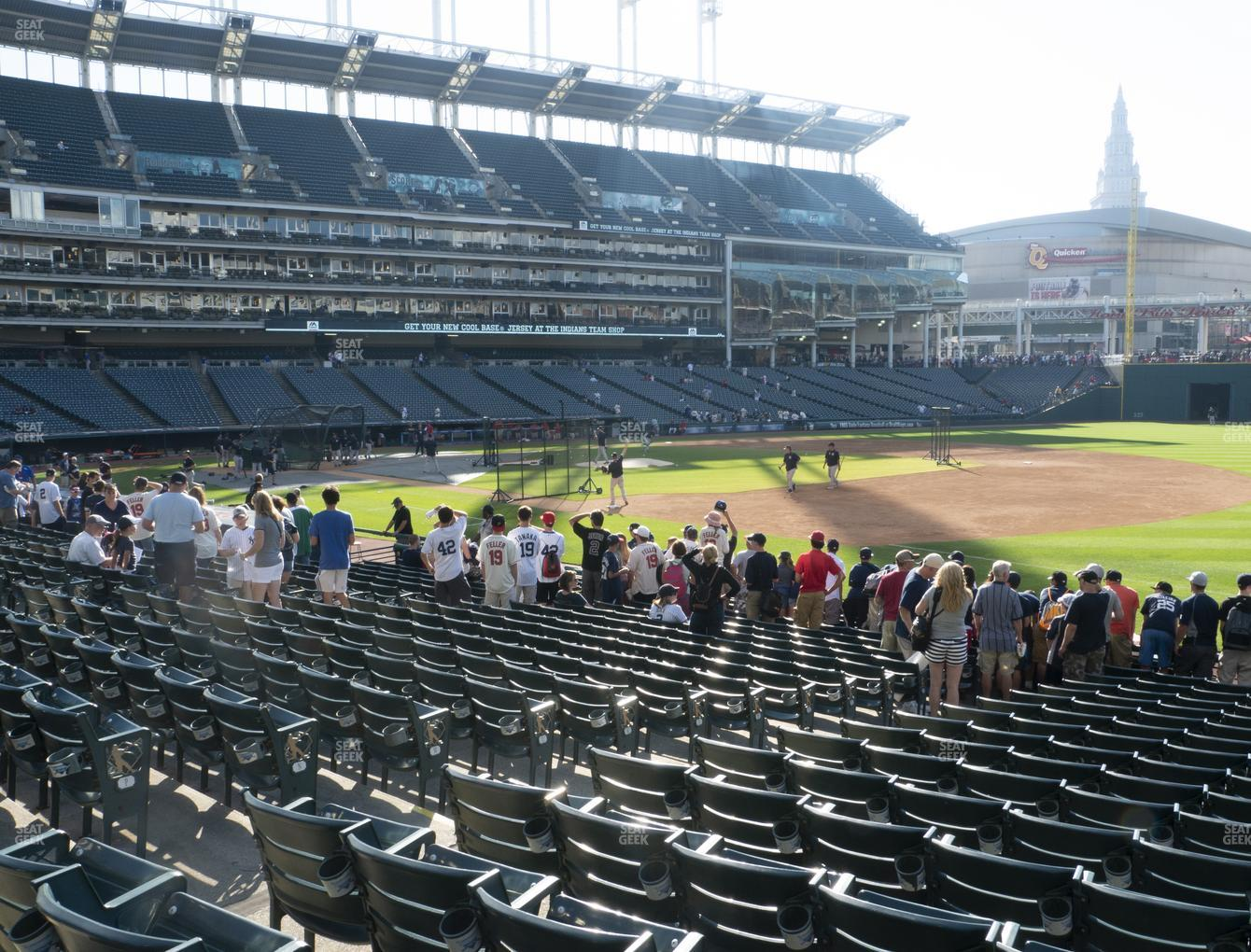 Cleveland Indians at Progressive Field Section 134 View