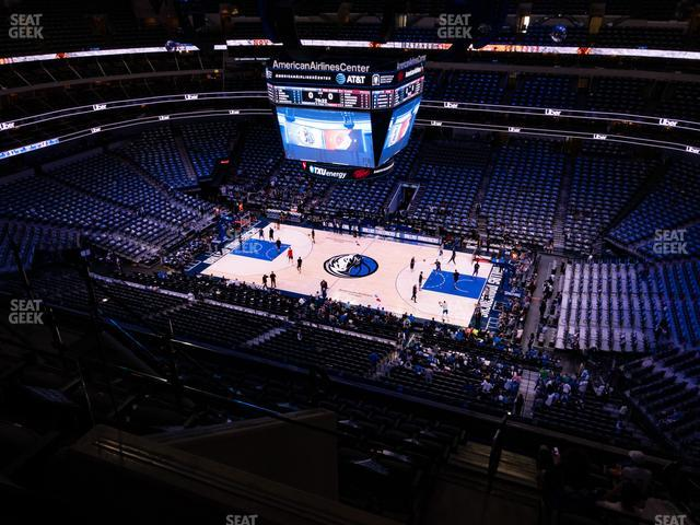 American Airlines Center Section 308 view