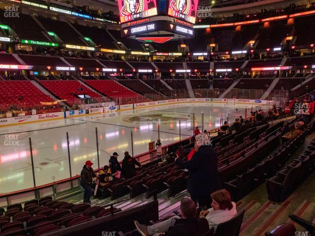 Canadian Tire Centre Section 109 view