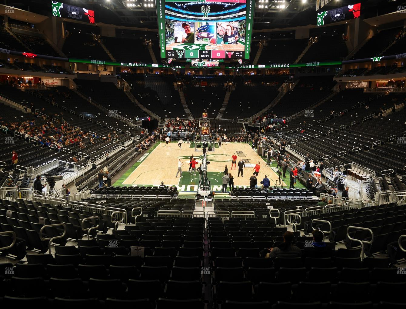 Milwaukee Bucks at Fiserv Forum Section 101 View
