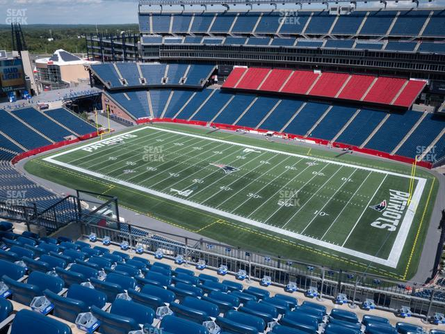 Gillette Stadium Section 327 view