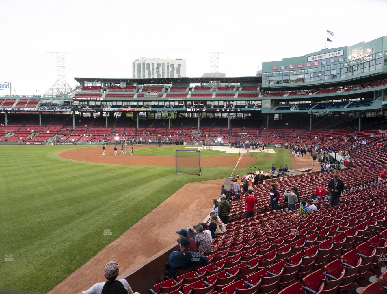 Boston Red Sox at Fenway Park Loge Box 164 View