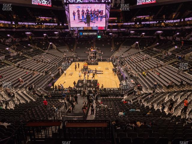 AT&T Center Section 114 view