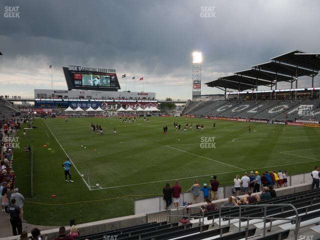 Dick's Sporting Goods Park Section 121 view