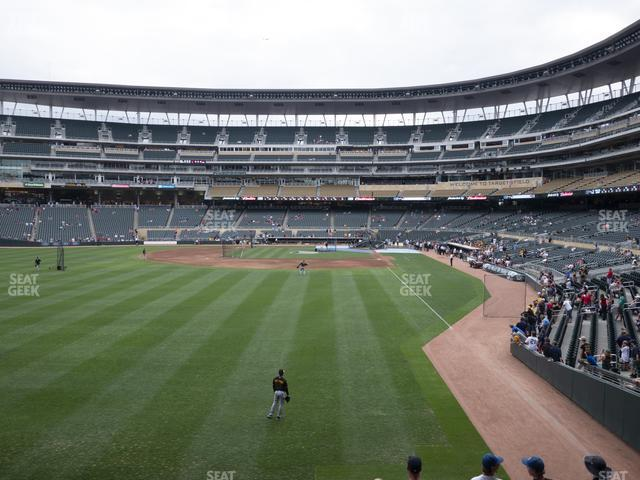 Target Field Section 128 view