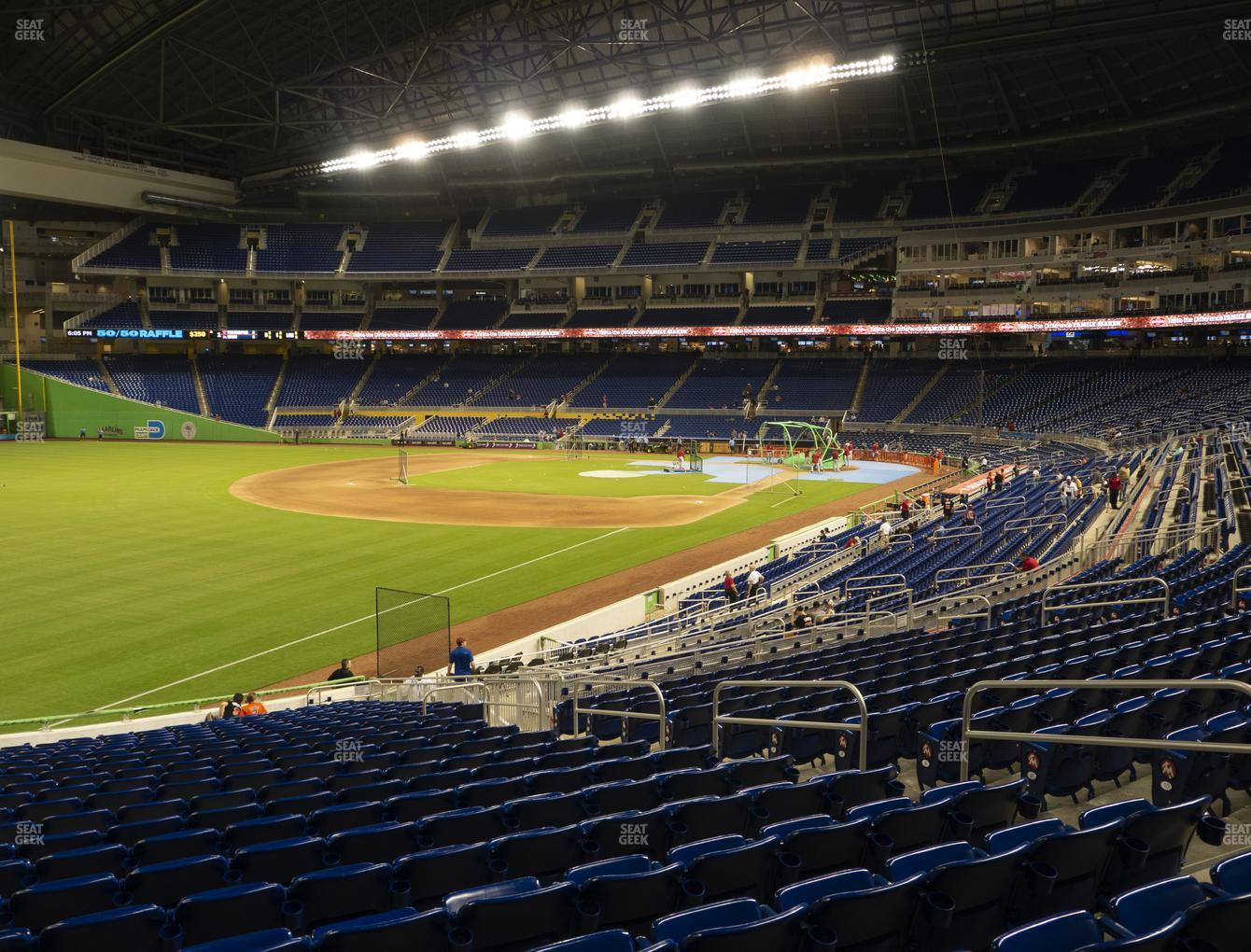 Miami Marlins at Marlins Park Section 26 View