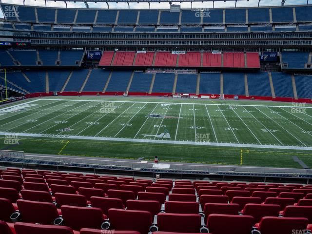 Gillette Stadium Section Club 9 view
