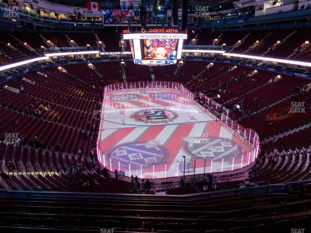 Rogers Arena Section 302 view