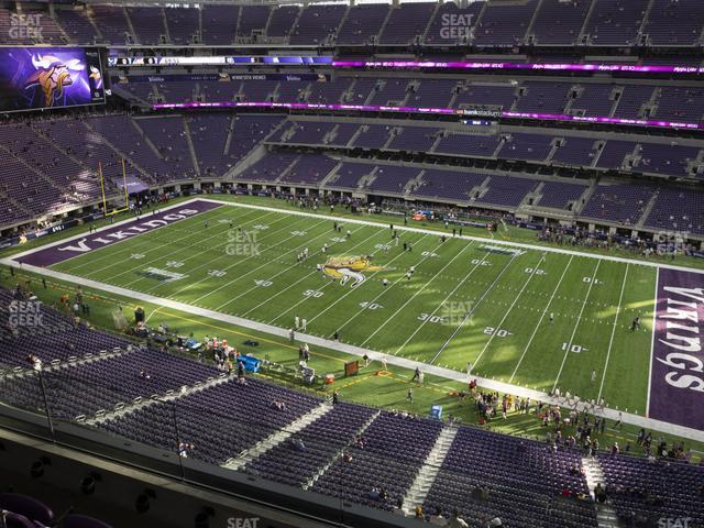 U.S. Bank Stadium Section 309 view