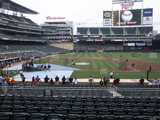 Target Field Section 109 view