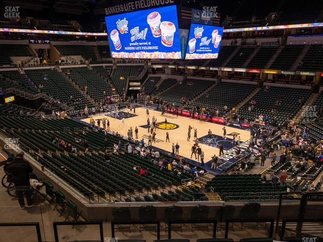 Bankers Life Fieldhouse Section 114 view
