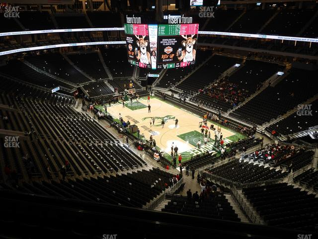 Fiserv Forum Section 218 view