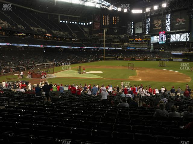 Chase Field Section 117 view