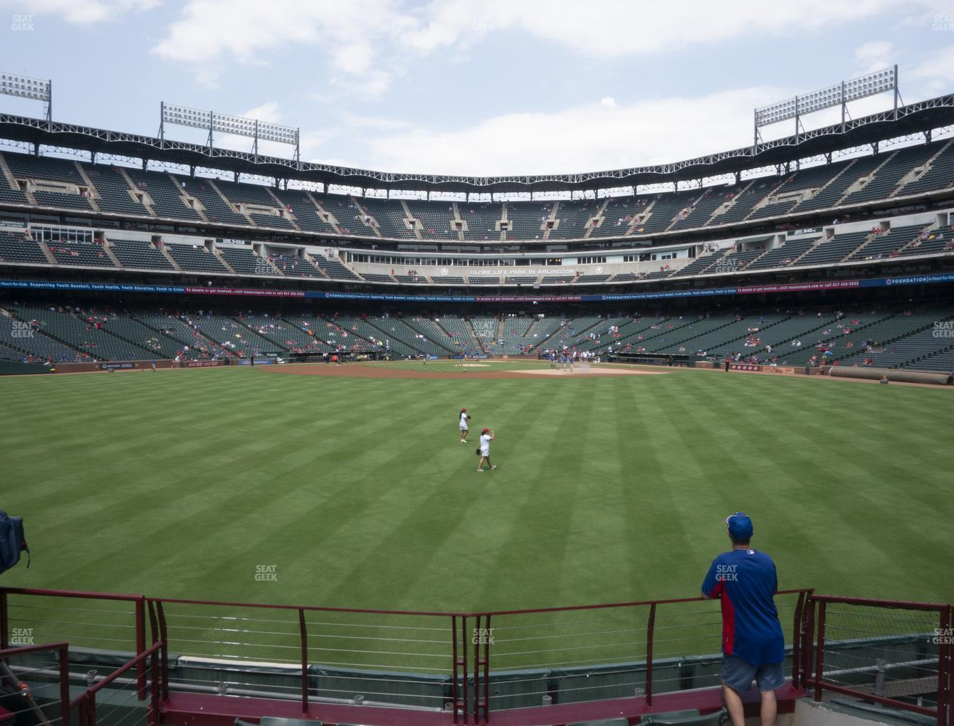 Texas Rangers at Globe Life Park Section 52 View