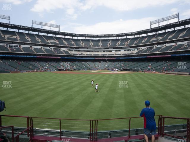 Globe Life Park Section 52 view