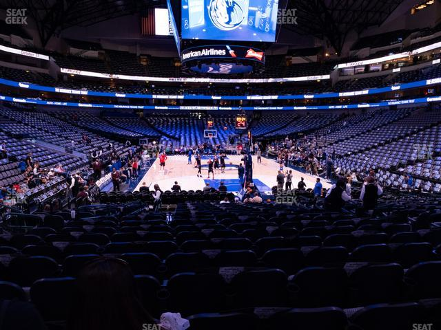 American Airlines Center Section 113 view