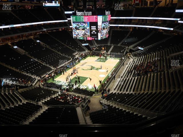 Fiserv Forum Section 213 view