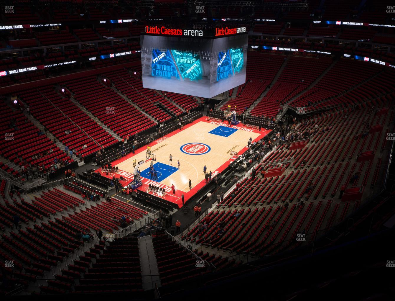 Detroit Pistons at Little Caesars Arena Section 201 View