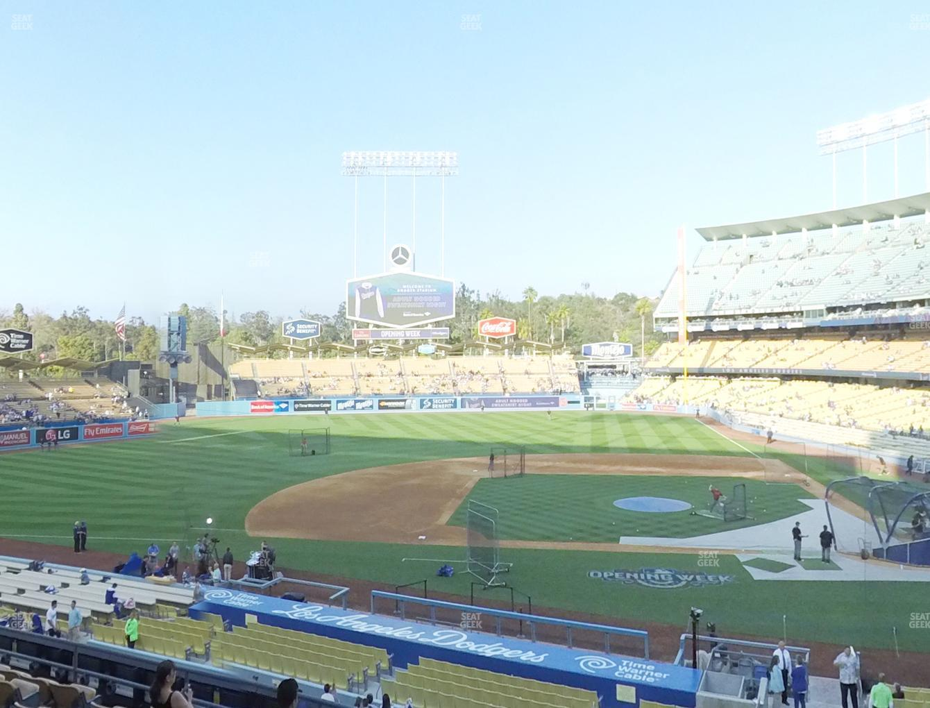 Los Angeles Dodgers at Dodger Stadium Loge Box 127 View