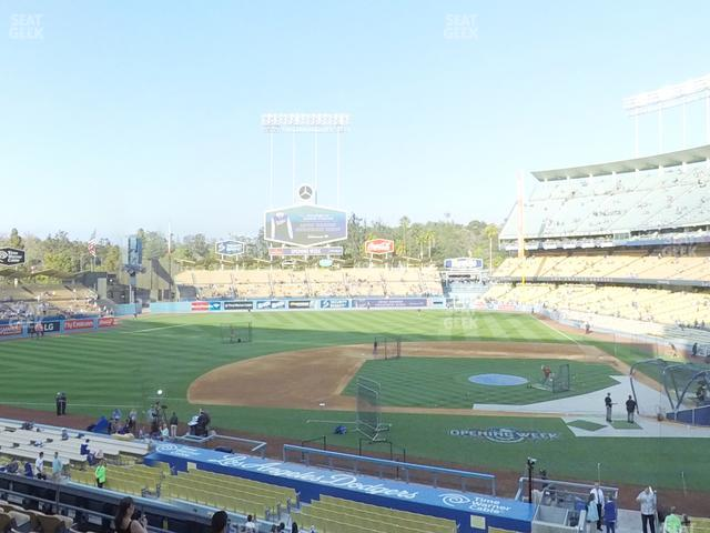 Dodger Stadium Loge Box 127 view