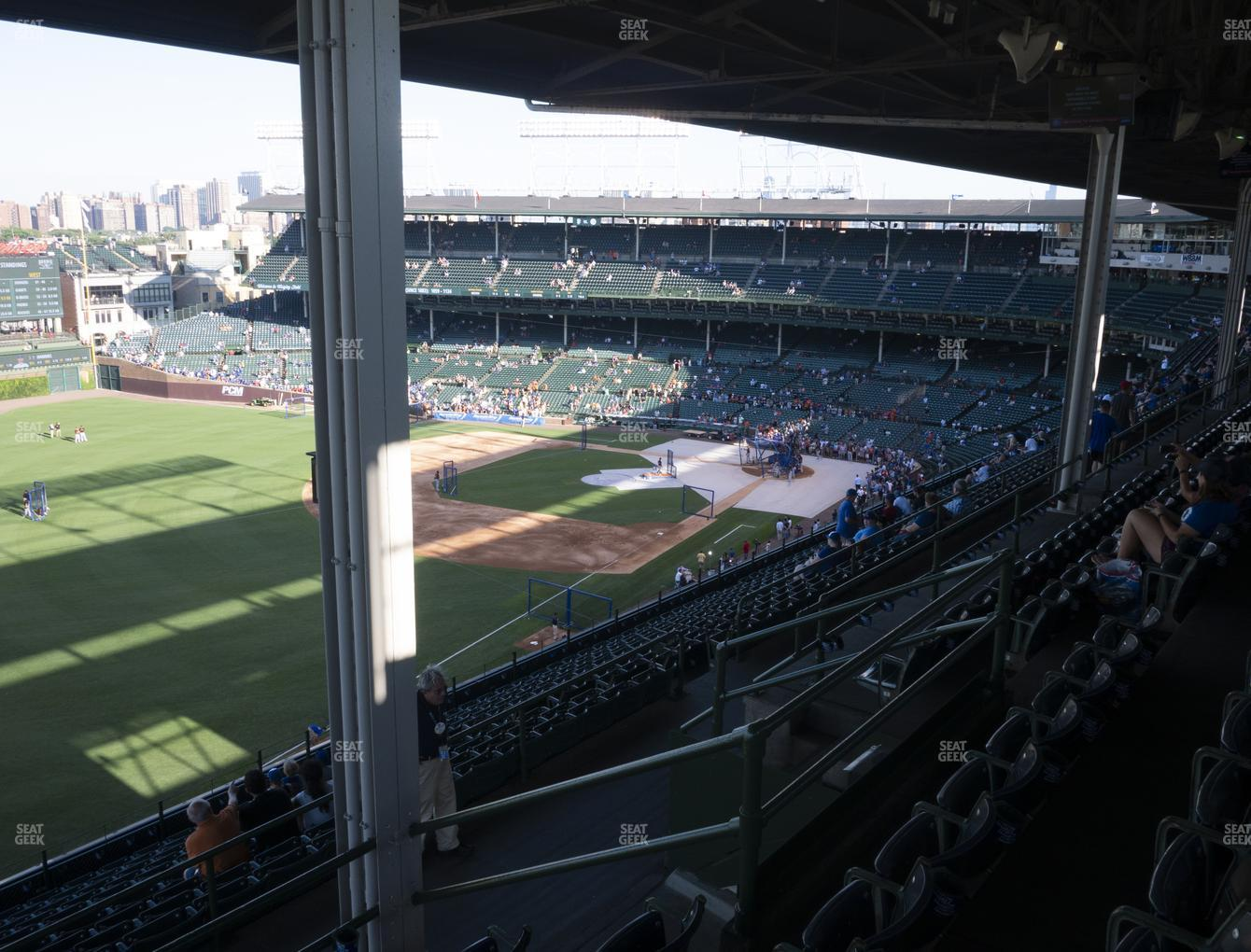 Chicago Cubs at Wrigley Field Section 403 Left View